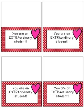 Valentines Bag Toppers- from teacher or classmate!