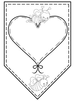 Valentines Bees Papers / Banner / Pennant