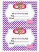 Valentine's Behavior Clip Chart - Birds chevron