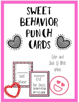 Valentines Behavior Punch Cards