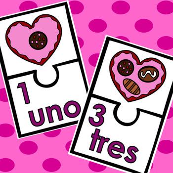 Valentine Bilingual Number Match