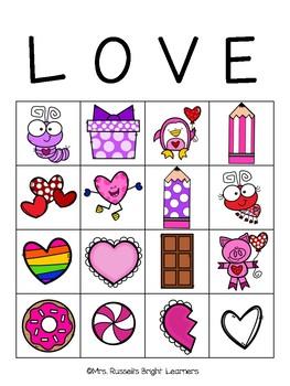 Valentines Love Bingo