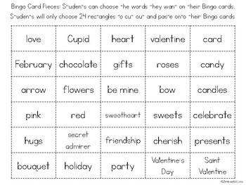 Valentine's Bingo-Valentine's Day Themed Bingo Game