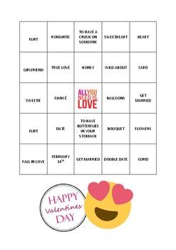 Valentines Bingo with Idioms