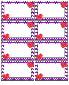 Valentines Blank Flash Cards Set
