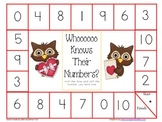 Valentines Board Games--1-10, 11-20, number words and color words