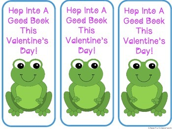Valentine's Bookmarks (Cute Frog Theme)