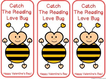 Valentine's Bookmarks (Lady Bug, Bee, Love Bug)