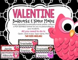 Valentines Bookmarks or Name Plate - EDITABLE (PERSONALIZE