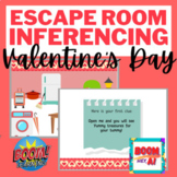 Valentines day Boom Cards Speech Therapy Escape Room Making Inferences NO PRINT