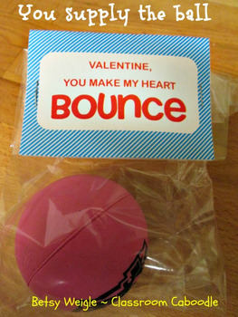 Valentines Bouncy Ball Bags for Student Gifts