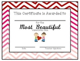 Valentine's Box Award Certificates