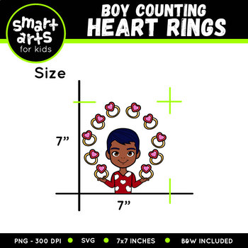 Valentines Boy Counting Rings Clip Art