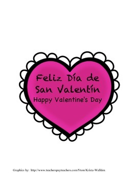 Valentine's Bulletin Board and Letter Writing Activity in Spanish