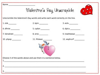 Valentine's Bundle-2nd, 3rd and 4th Grade
