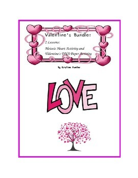 Valentine's Bundle: Meiosis Hearts and Valentine's DNA Paper Activity