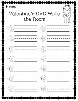 Valentines CVC Write the Room
