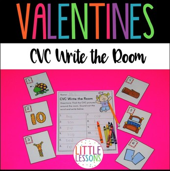 Valentines CVC Write the Room