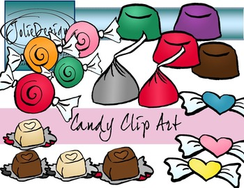 Valentines Candy Clip Art Full 22 Piece Set