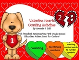 Valentine's Candy Heart Math Centers - Counting, Numbers; Kindergarten; Autism;