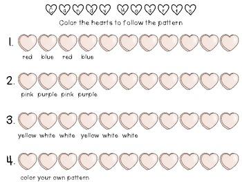 Valentines Candy Heart Patterning {FREEBIE}