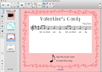Valentine's Candy: 3 Songs and Activities for Elementary Music Class (SMART)