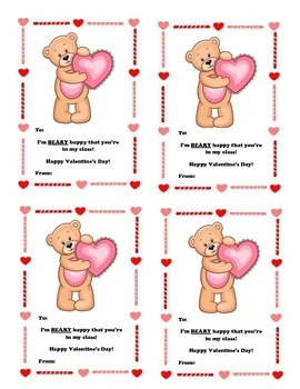 Valentine's Card From Teacher