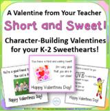 Valentines Cards Teacher to Student K-2