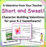 Valentines Cards from Your Teacher - Short and Sweet!