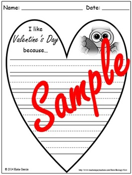 Valentine's Cards - Reading, Math, & Writing Activities