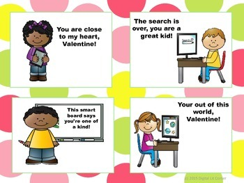 Media Teacher / Technology Valentine's Day Cards (Free)