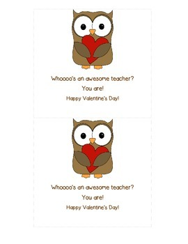 Valentine's Cards~for students and teachers!