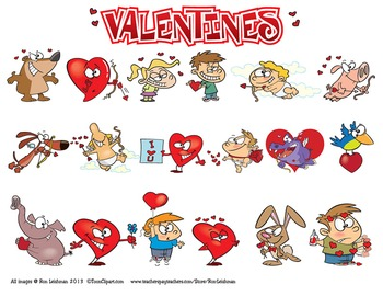 Valentines Cartoon Clipart Vol. 1