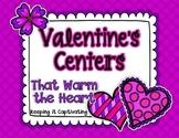 Valentine's Centers {10 Literacy Centers}
