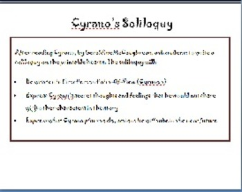 Cyrano's Soliloquy