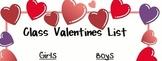 Valentines Class List