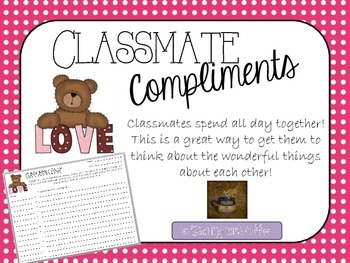 Valentine's Classmate Compliments Page