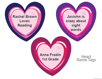 Valentines Classroom Theme - Bulletin borders, editable name tags, and signs