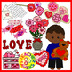 Valentines Clip Art Set Commercial and Personal Use