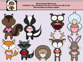Valentines Clipart: Woodland Animal
