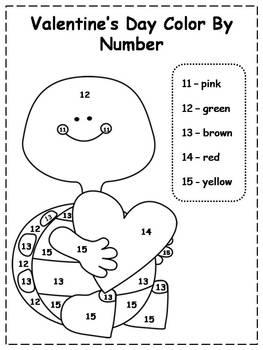 valentines color by number printables by klever kiddos tpt. Black Bedroom Furniture Sets. Home Design Ideas