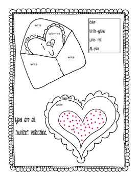 Valentines Color By Word 3 Pack!