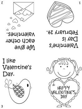 Valentine's Color, Fold & Read