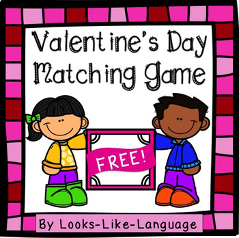 Valentines FREE Open Ended Matching Game