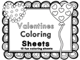 Valentines Coloring Sheets