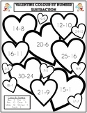 Valentines Colour By Number (Subtraction)