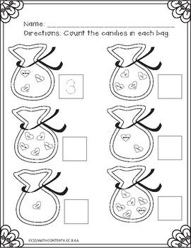 Kindergarten Math-Valentine's