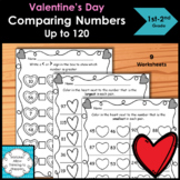 Valentines Comparing Numbers up to 120