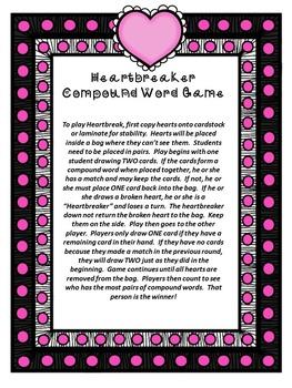 Valentine's Day Compound Word Game