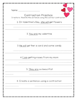 Valentine's Contraction Match